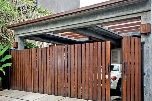 7 Desain Pagar Rumah Minimalis 2019   Sion Construction