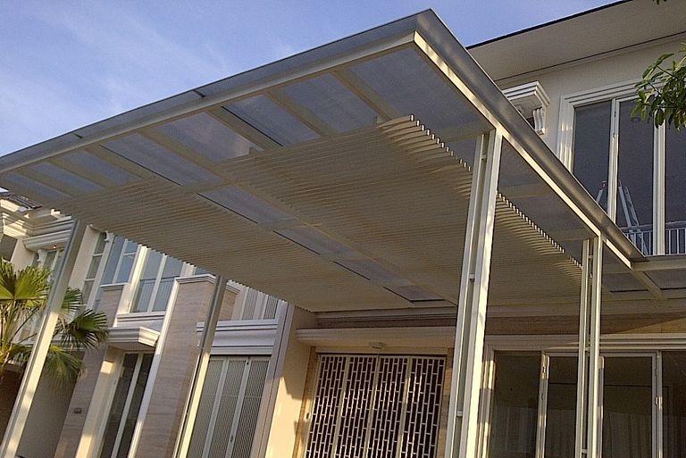 kanopi besi baja terbaik murah terjamin surabaya kota metropolis konsep minimalis outdoor awet bertanggung jawab